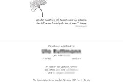 Trauerkarten Innenansicht layout mittig - Nr. 01