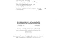 Trauerkarten Innenansicht layout mittig - Nr. 06