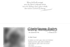 Trauerkarten Innenansicht layout mit Foto - Nr. 09