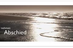 Trauerkarten Trauerkarte Motiv Strand