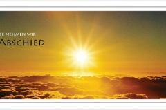 Trauerkarten Trauerkarte Motiv Sonne über den Wolken
