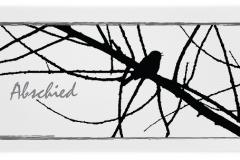 Trauerkarten Trauerkarte Motiv Vogel Ast
