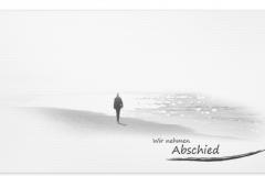 Trauerkarten Trauerkarte Motiv Mann am Meer