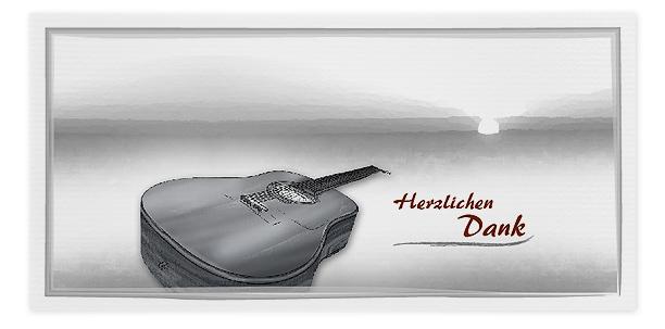 Danksagung Motiv Gitarre 015 DIN