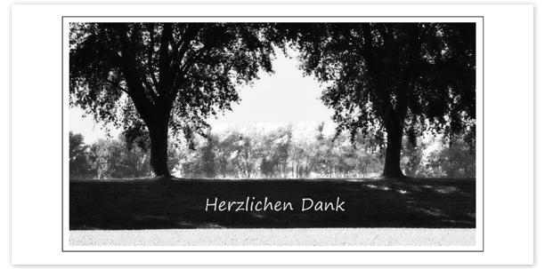 Trauerkarten Motiv Bäume 015 BA