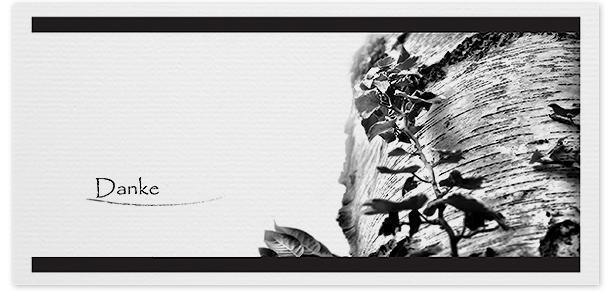 Trauerkarten Motiv Birke 018 BA