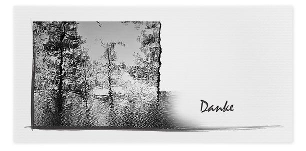 Trauerkarten Motiv Bäume, Wasserspiegelung 021 BA
