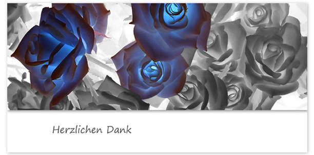 Trauerkarten Motiv Rosen 026 BL
