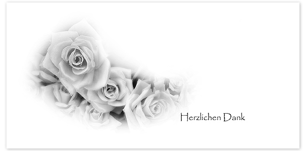 Trauerkarten Motiv Rosen 029BL