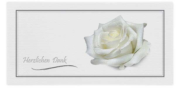 Trauerkarten Motiv Rose 031 BL