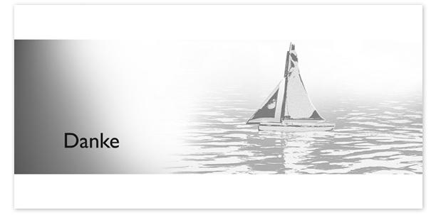 Trauerkarten Motiv Segelboot 015 BO
