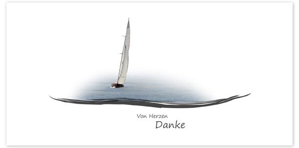 Trauerkarten Motiv Segelboot 017BO
