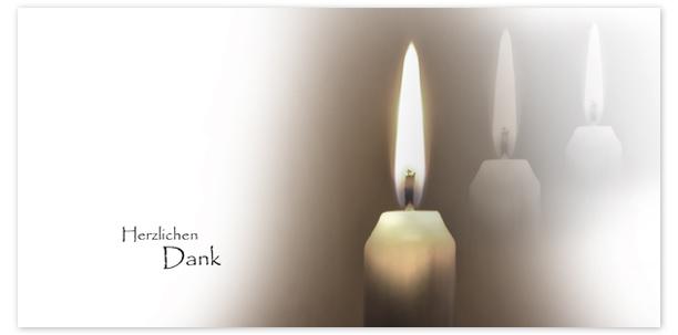 Trauerkarten Motiv Kerzen 015 KE