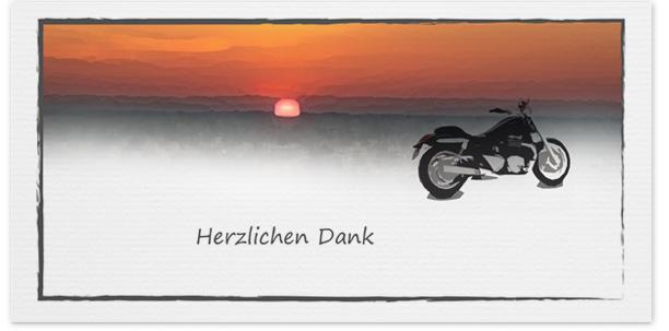 Trauerkarten Motiv Motorrad 029 SO