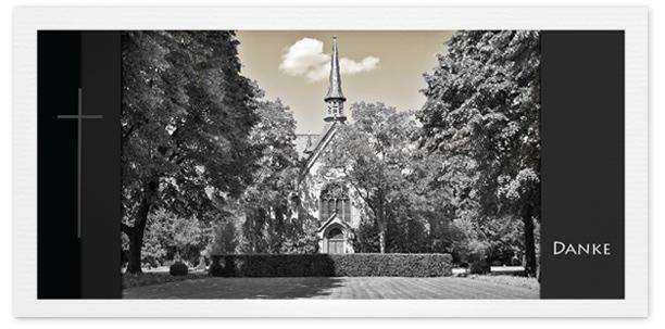 Trauerkarten Motiv Kirche 032 SO