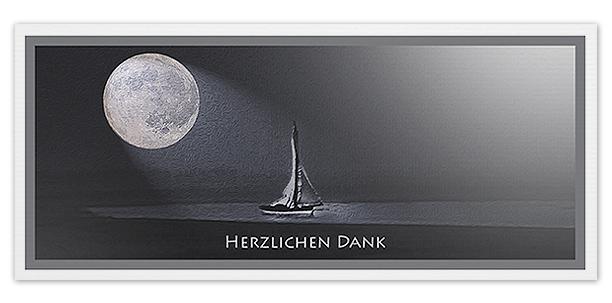 Trauerkarten Motiv Mond mit Segelboot 035 SO