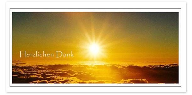 Trauerkarten Motiv Sonnenuntergang über den Wolken 016 SU