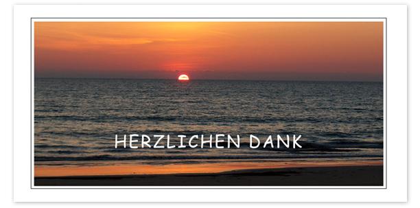 Trauerkarten Motiv Sonnenuntergang am Meer 017 SU
