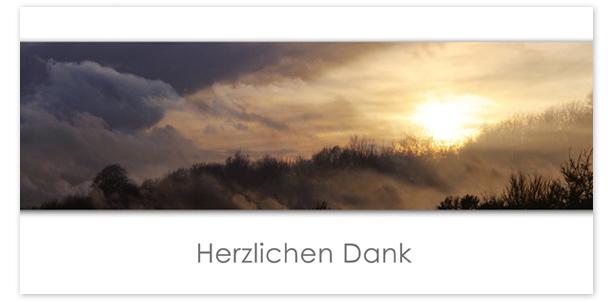 Trauerkarten Motiv Sonnenuntergang mit Bank 018 SU