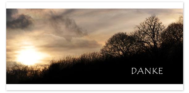 Trauerkarten Motiv Sonnenuntergang im Winter 019 SU