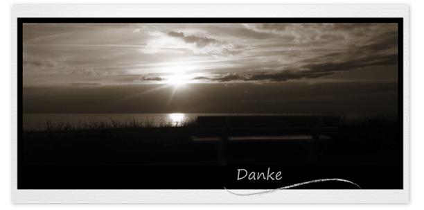 Trauerkarten Motiv Sonnenuntergang mit Bank 022 SU