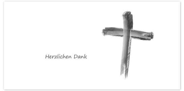 Trauerkarten Motiv gemaltes Kreuz 018 SY