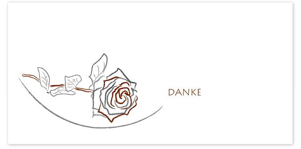 Danksagung Motiv Rose gezeichnet 040 SY