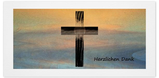 Danksagung Motiv Symbol Kreuz pastell 041 SY