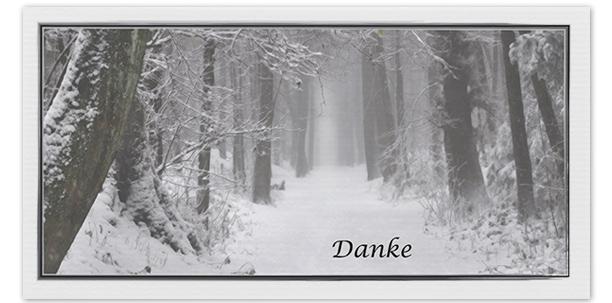 Danksagung Motiv Weg im Winter 021 WE