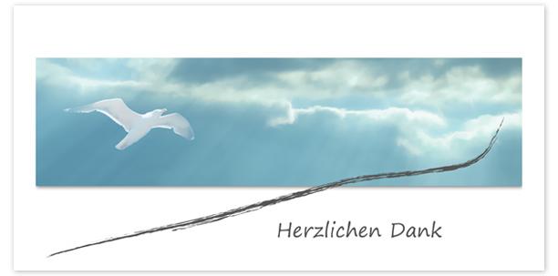Trauerkarten Motiv Herbstblatt 016 WO