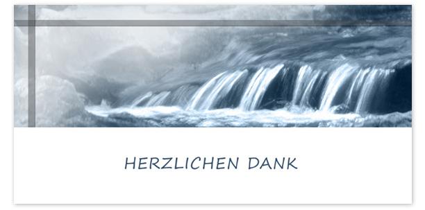 Danksagungen Motiv Wasserfall 015 WS