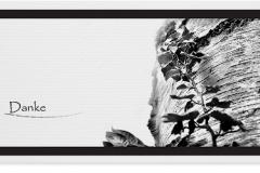 Danksagung, Danksagungskarte Motiv D018 BA