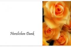 Danksagung, Danksagungskarte Motiv D 015 BL