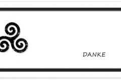 Danksagung, Danksagungskarte Motiv D 021 SY