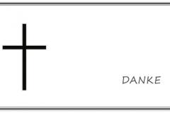 Danksagung, Danksagungskarte Motiv D 022 SY