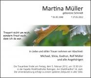 Traueranzeige Motiv A 019 BL - Herbst, Herbstblatt