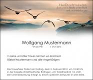 Traueranzeige Motiv A 016 VO - Vögel Wildgänse
