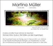 Traueranzeige Motiv A 018 WE - Wald, Weg, Waldweg