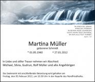 Traueranzeige Motiv A 015 WS - Wasserfall, Wasser