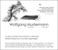 Traueranzeige Motiv A 019 BA - Baum, Treppe, Möwe