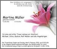Traueranzeige Motiv A 025 BL - Lilie, Blumen