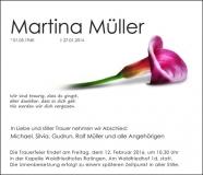 Traueranzeige Motiv A 034 BL - Lilie, Blume