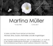 Traueranzeige Motiv A 045 BL - Blume Margerite Wiese