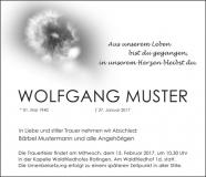 Traueranzeige Motiv A 018 BW - Löwenzahn, Pusteblume