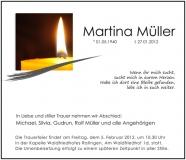 Traueranzeige Motiv A 016 KE - Kerze, Kerzen, Licht