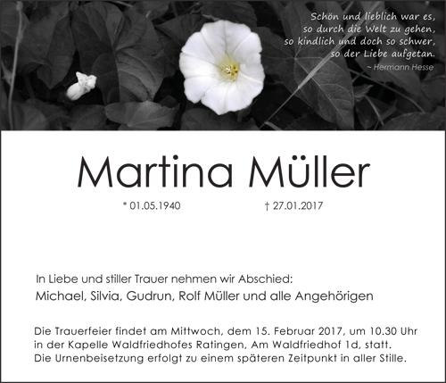 Traueranzeige Motiv Blume Margerite A 045 BL