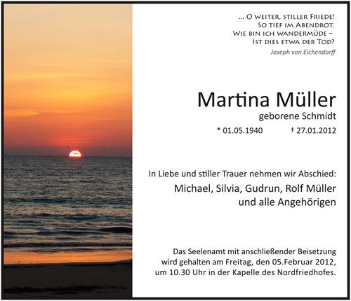 Traueranzeige Motiv Sonnenuntergang am Meer A 017 SU