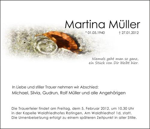 Traueranzeigen Motiv Herbstblatt im Wasser / Wasserringe