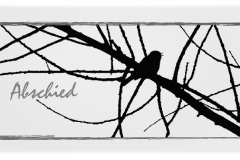 Trauerkarte, Bilder, Vogel, Ast, Motiv - Nr. 017 AS