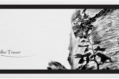 Trauerkarte, Bilder, Birke, Baum, Abschied, Motiv - Nr. 018 BA
